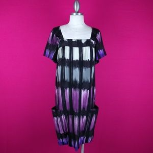 Taylor size 8 multicolored dress casual